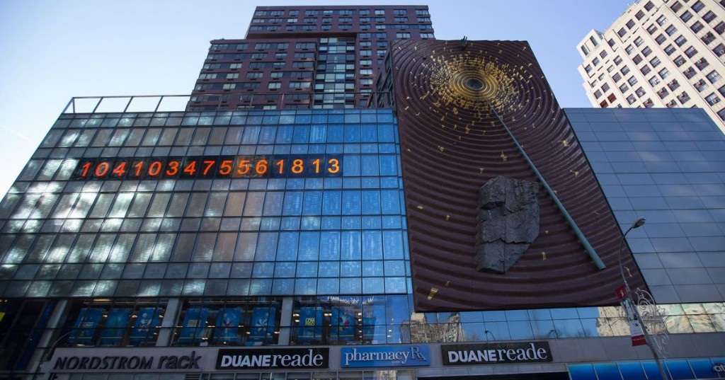 Famed NYC clock is now counting down to Earth's climate change 'deadline'