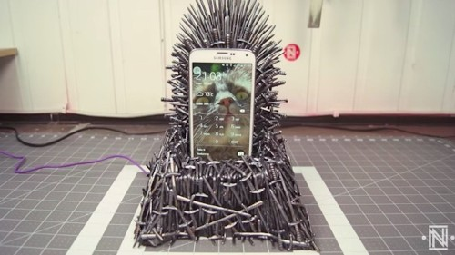 Someone made a Iron Throne phone charger and it's about as cool as it gets