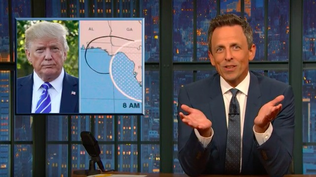 Seth Meyers explains why Trump can't stop lying about that Alabama hurricane tweet