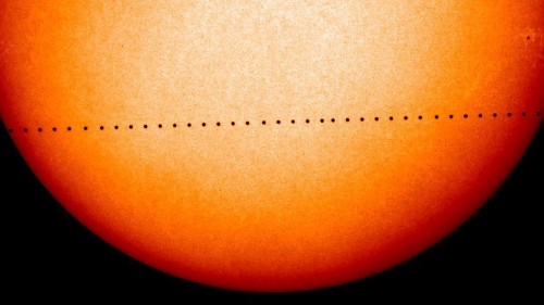 Mercury will pass in front of the sun on Monday in rare transit