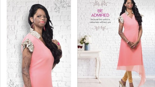 Courageous acid attack survivor becomes the face of a fashion campaign in India