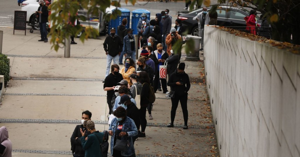 Trump called NYC a 'ghost town' but the city's early voting lines say otherwise