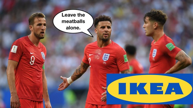 England fans storm London IKEA after World Cup win over Sweden