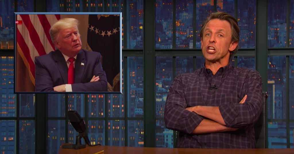 'Sociopathic incompetence': Seth Meyers blasts Trump for deliberately downplaying coronavirus