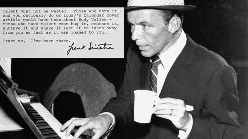 Frank Sinatra's open letter to George Michael is a good pep talk for us all