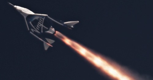 First four images from Virgin Galactic's successful new test flight