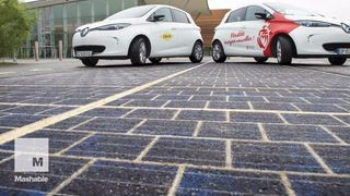 This is the world's first solar-powered road