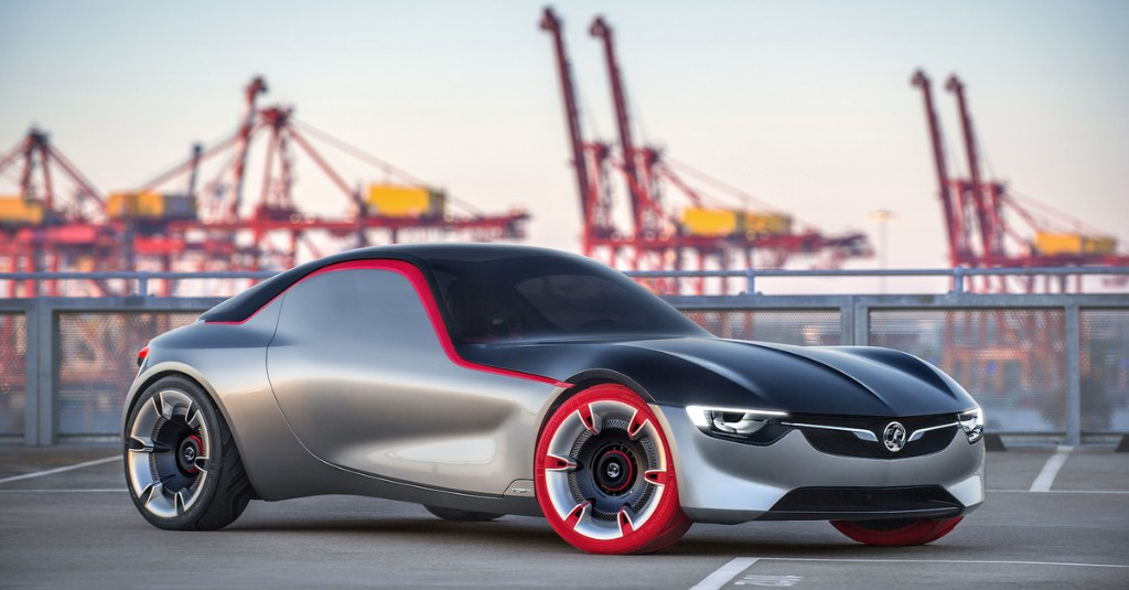 Ignore the red tires. This concept could be the next Opel GT sports car