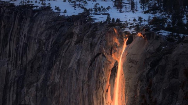 Natural 'Firefall' phenomenon captured in wild photographs