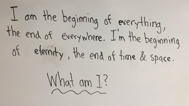 Kid's super deep response to classroom riddle is way better than the actual answer