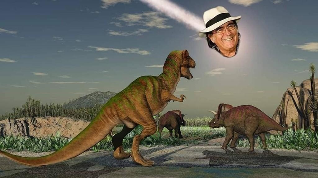 I migliori meme di Al Bano che distrugge i dinosauri