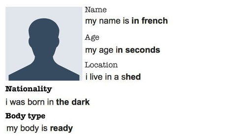 This guy used Google Autocomplete to fill out his online dating profile