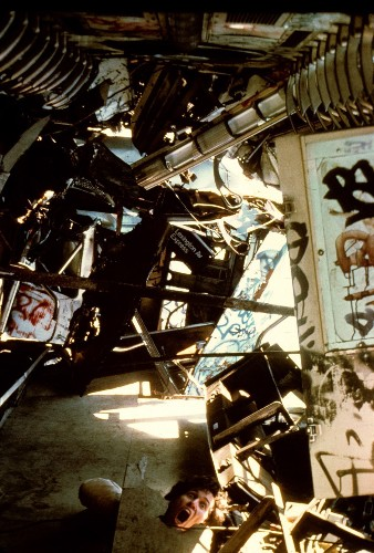 Walking on the walls of the 1980s NYC subway