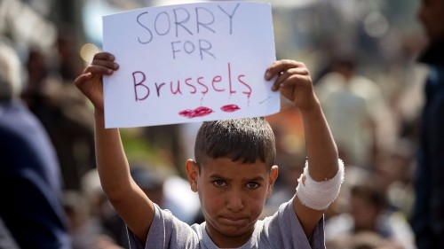 In its darkest hour, 18 photos show Brussels' humanity
