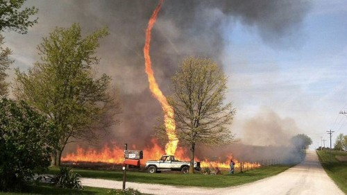 'Firenado' Captured in Wild Instagram Photo