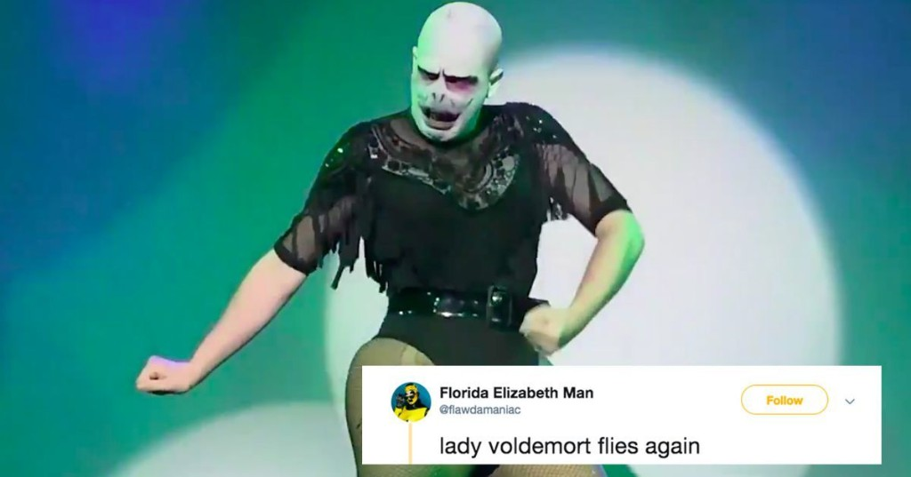 This drag queen's Voldemort impersonation is going viral and it's amazing