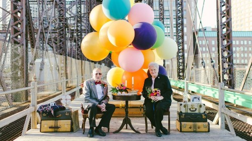 Couple Celebrates 61 Years of Marriage With 'Up'-Inspired Photo Shoot