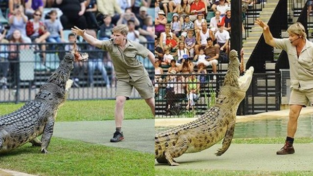 Steve Irwin's son pays tribute to his father with perfect side-by-side photo