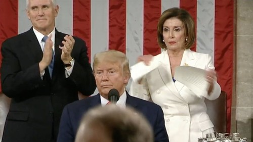 Nancy Pelosi steals the show and rips up Trump's State of the Union speech