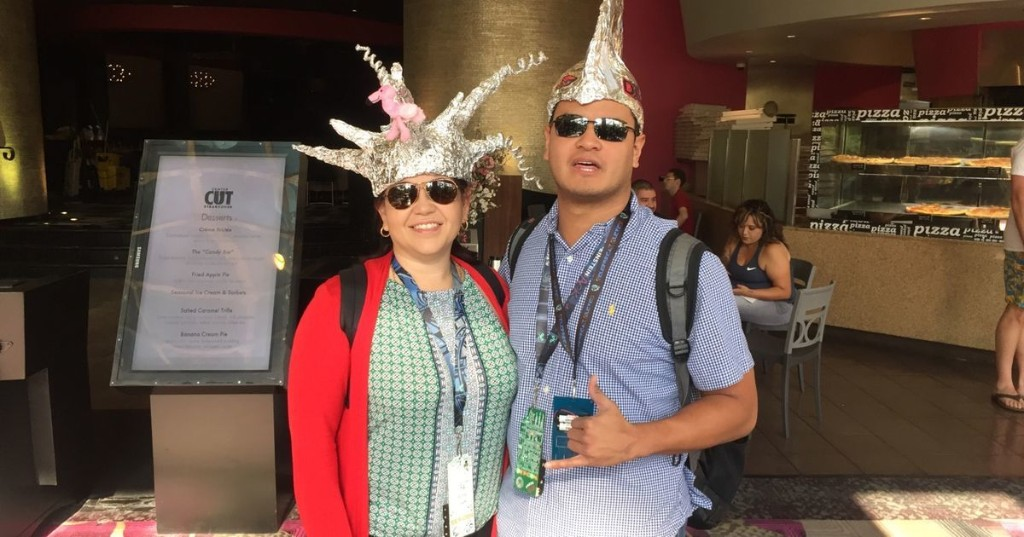 Hacker convention in Vegas is full of tin-foil hats. Literally.