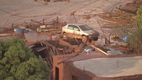 Dozens feared dead after mining company's dam bursts in Brazil