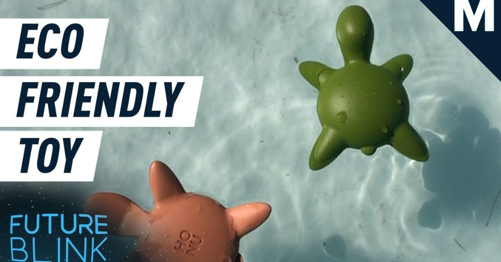 This adorable toy is made out of recycled ocean plastic