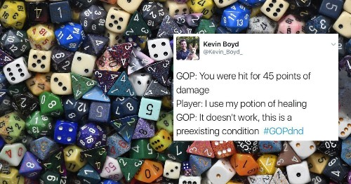 The GOP is terrible at playing 'Dungeons & Dragons,' if you believe the internet