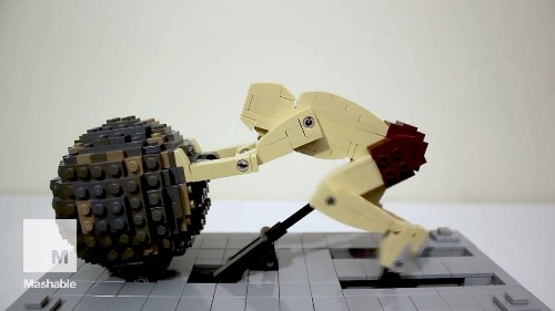 This artist is breathing life into his Lego toys, turning them into kinetic sculptures