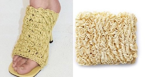 Article: A high-fashion house is releasing shoes that look exactly like instant noodles