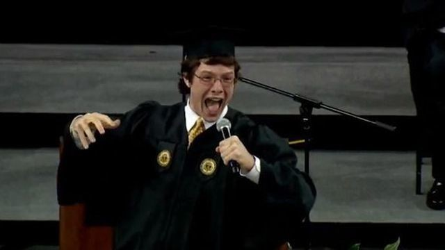 College Student's Speech Makes Him King of the Nerds