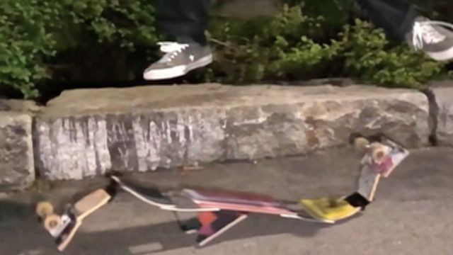 Watch these insanely trippy skateboard tricks in slow motion