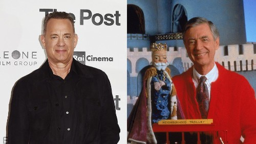 This photo of Tom Hanks as Mister Rogers is magical