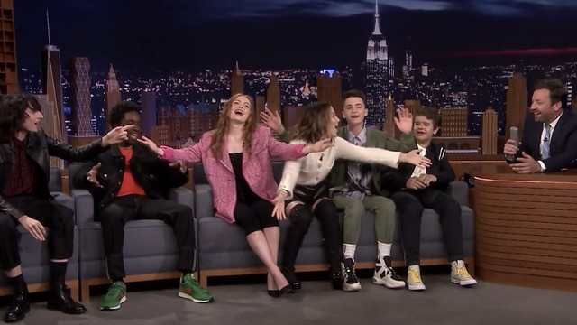 'Stranger Things' cast teaches Jimmy Fallon the song they used to annoy each other
