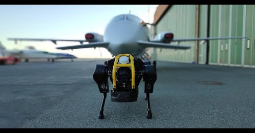 Watch this four-legged robot pull a dang airplane