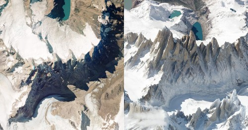 Satellite images of Earth taken from an angle show the world in new beauty