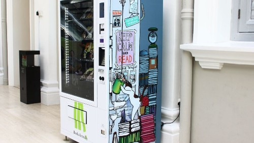 Singapore now has vending machines that sell books