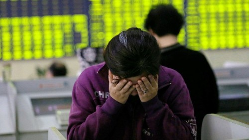 Trading halted for hundreds of companies as China's stock market nosedives