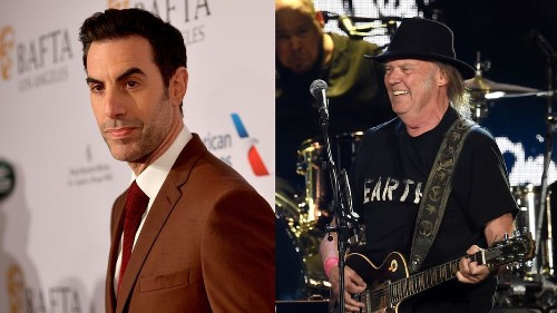 Sacha Baron Cohen and Neil Young stand up to Facebook