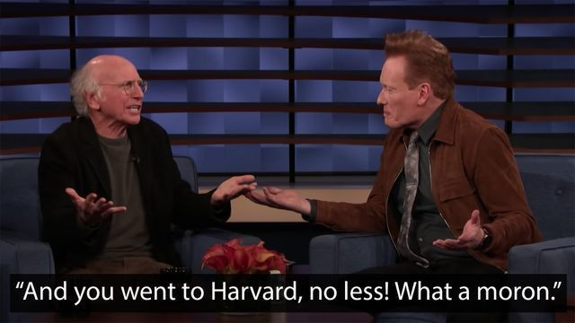 Larry David brutally tears down Conan's hosting technique