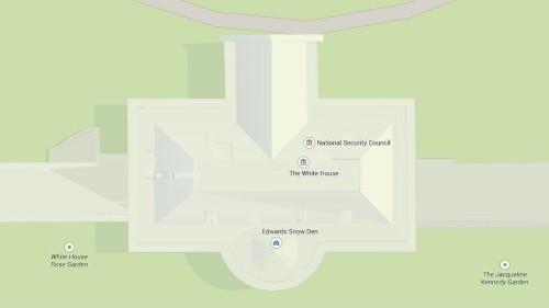 Edward Snowden visits the White House ... on Google Maps