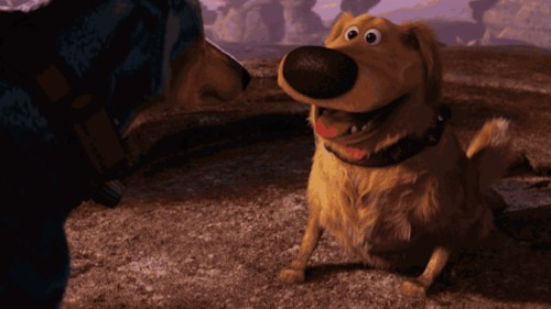 Turn your dog into Dug from 'Up' using this Snapchat filter