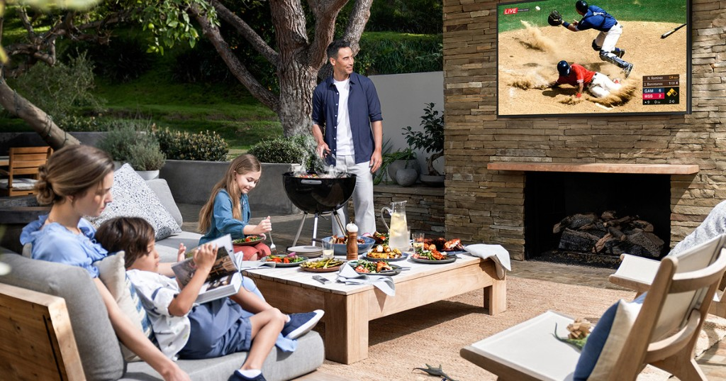 Samsung Terrace is an outdoorsy TV that doesn't mind a little rain