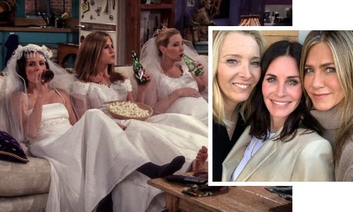 The One Where Friends Jennifer Aniston, Courteney Cox and Lisa Kudrow Had a Girls' Night!