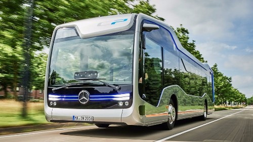 Mercedes' autonomous Future Bus just drove through Amsterdam