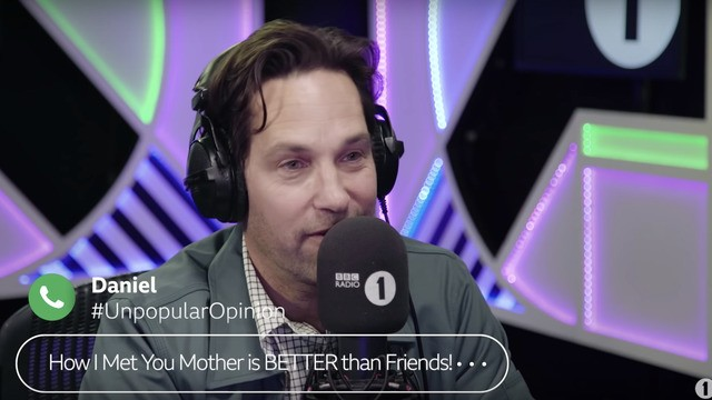 Paul Rudd confuses Britney Spears with British beers and we've all been there mate