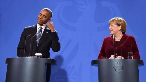 Angela Merkel picks hanging out with Obama over hanging out with Trump. Can you blame her?