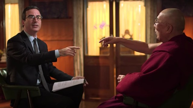John Oliver sits down with the Dalai Lama and wow, it's good