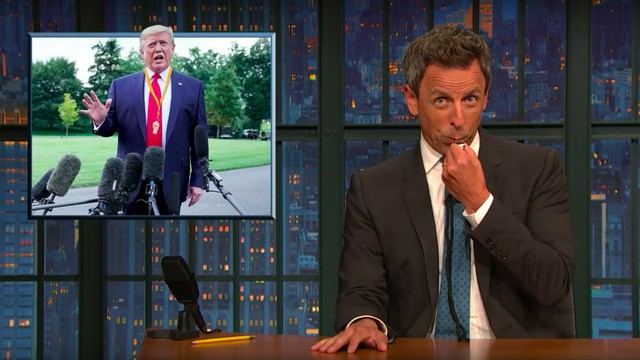 Seth Meyers expertly mocks Trump for being his own whistleblower on Ukraine interference