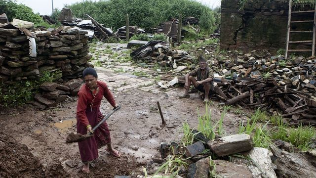 Earthquake-destroyed villages in Nepal struggle to rebuild