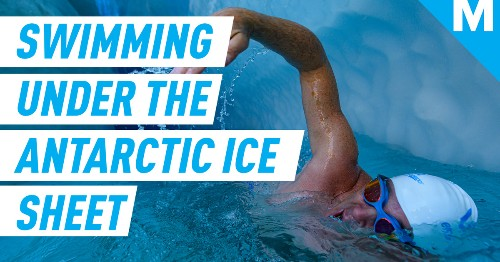 He swam under the Antarctic ice sheet, risking his life to show us how fast it's melting